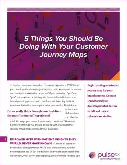 5 Things You Should Be Doing With Your Customer Journey Maps