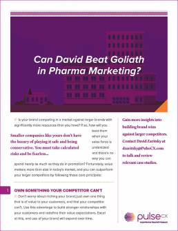 Can David Beat Goliath in Pharma Marketing?